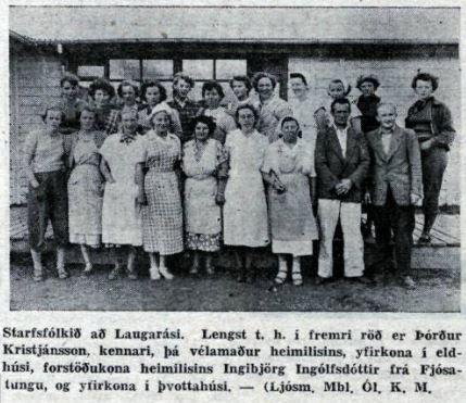 Mynd Mbl. af starfsfólki sumarið 1952