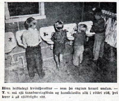 Kvöldþvottur (mynd mbl. 1952)