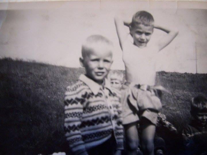 Ágúst nær og Jón fjær, sumarið 1957 (mynd frá Ágústi)