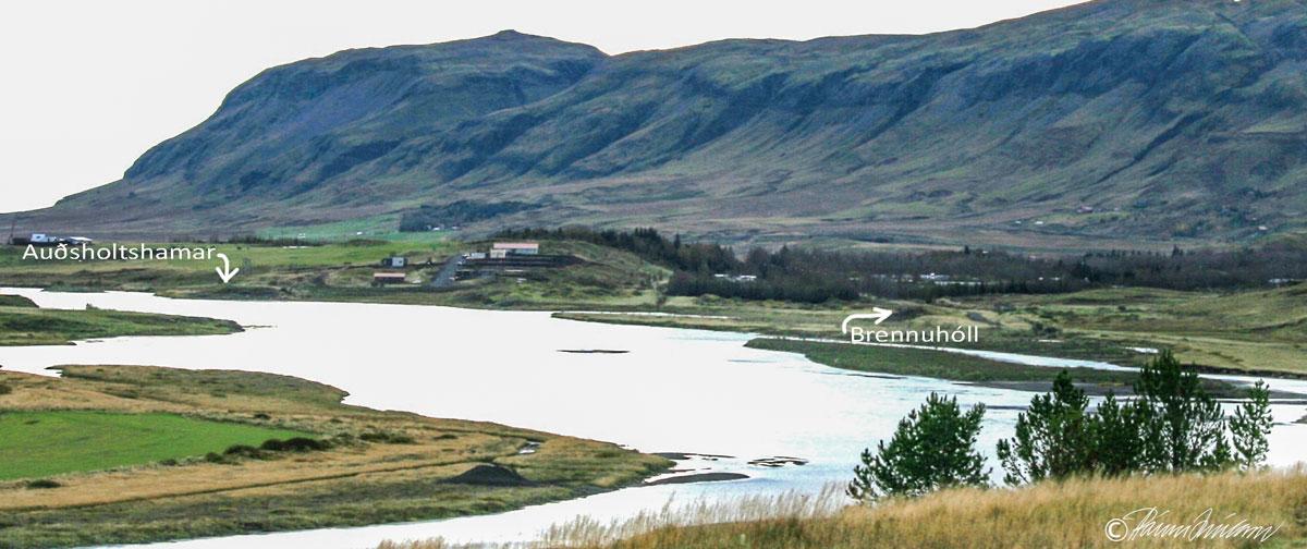 Auðsholtshamar og Brennuhóll (2008) (mynd pms)