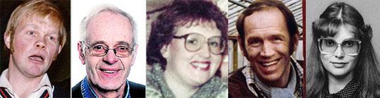 Þorrablótsnefnd 1979: f.v Gunnar, Bjarni, Elinborg, Hilmar og Anna