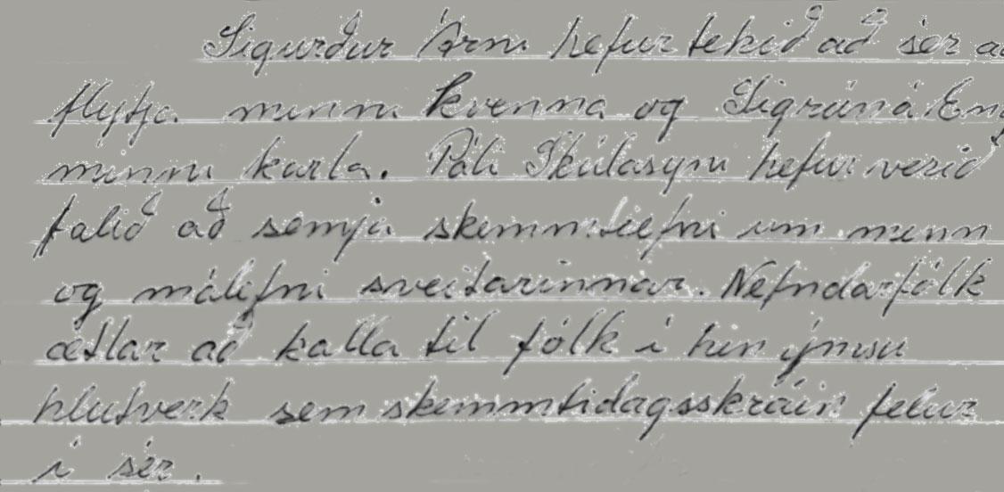 Úr fundargerð þorrablótsnefndar 1991 (ritari Brynja Ragnarsdóttir)