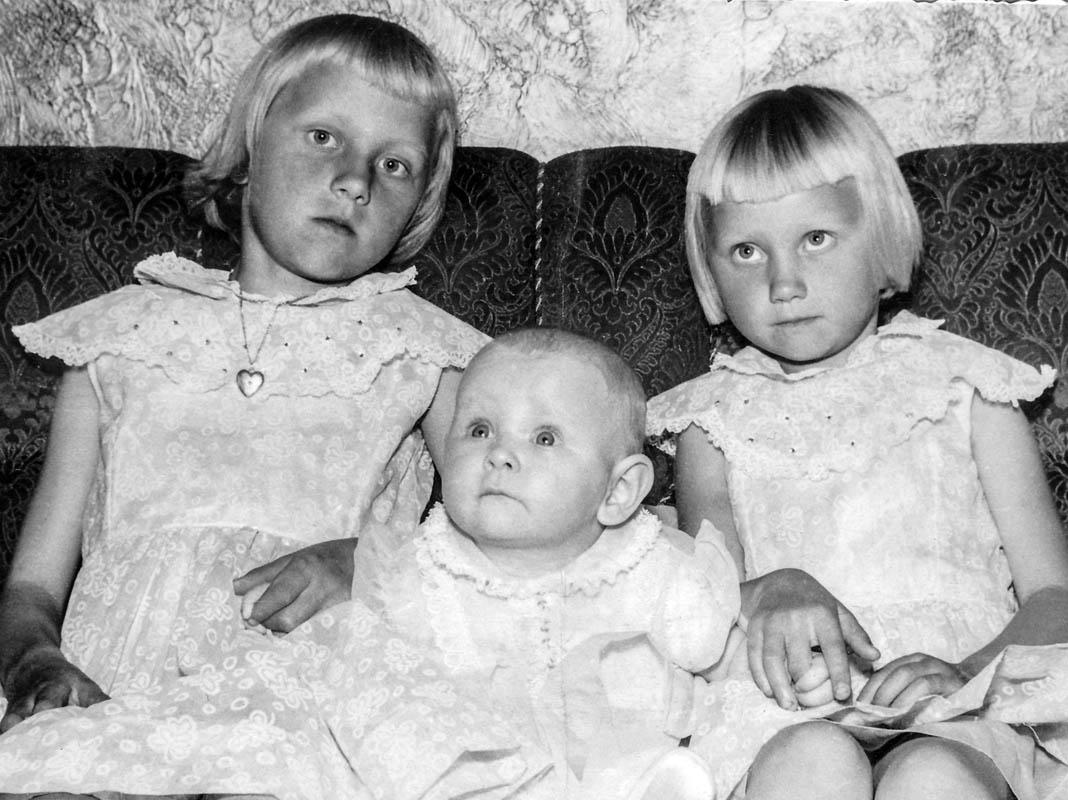 Systurnar í Skálholti: F.v. Kristín, Kolbrún og Jóhanna Björnsdætur. Þær er dætur Björns Erlendssonar og Maríu Eiríksdóttur.