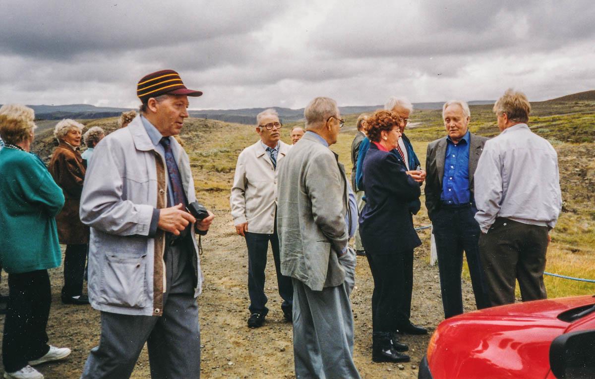 F.v. Þorlákur (Láki) Bergholti, Halldór á Litla-Fljóti, Georg Franzson, Guðmundur á Lindarbrekku, Jóna á Vatnsleysu, Ingvar á Reykjum, Bragi á Vatnsleysu.
