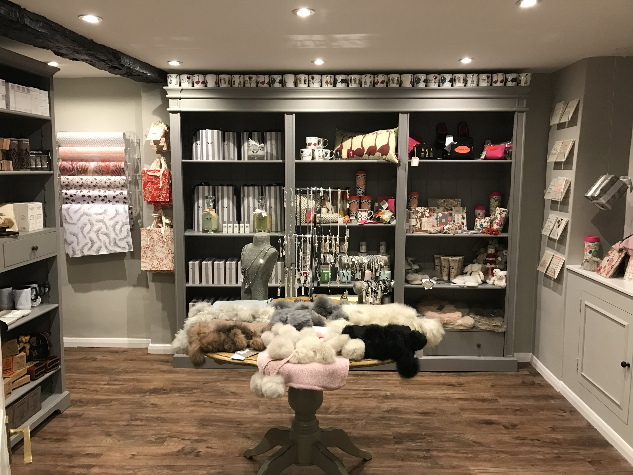 Inside the gift shop in Alresford
