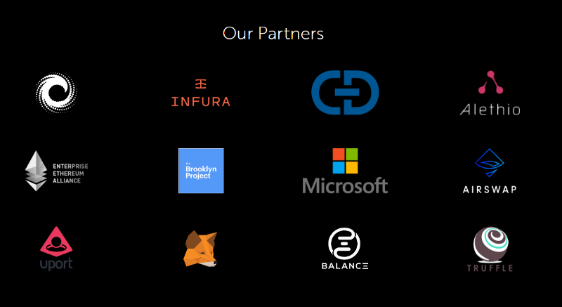 9 of the 12 partners TokenFoundry cite are fellow mesh projects or ConsenSys itself