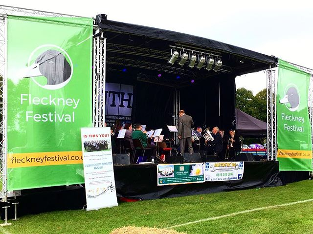 We provided one of our 'full package deals' for Fleckney Festival a couple of weeks ago, they had their own banners printed to fit our stage... how good does that look!! Enquire to see what we can do for your event! #fleckneyfestival #fleckney #stagehire #entertainmenthire #equipmenthire #AVhire #instagood #instadaily #pictureoftheday #followme #eventhire #parties #weddings #livemusic #livesound #stagemobile #mobilestage #trailerstage
