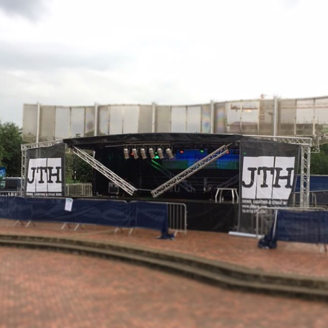 Sneak peek of the main stage being built ready for Leicester Riverside festival. JTH are proud to be one of the main sponsors of this years event! - providing this fantastic stage including sound and lighting! As well as the acoustic stage and PA system! Looking forward to it! #leicesterriversidefestival #riversidefestivalleicester #riversidefestival2017 #leicesterevents #jthire #jthconcertsandliveevents #stage #sound #lighting