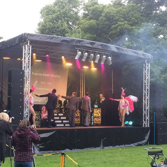 The Rat Pack at Shugborough Hall #stagehire #mobilestage #leicester #hk #hkcontour #linearray #livesound #theratpack