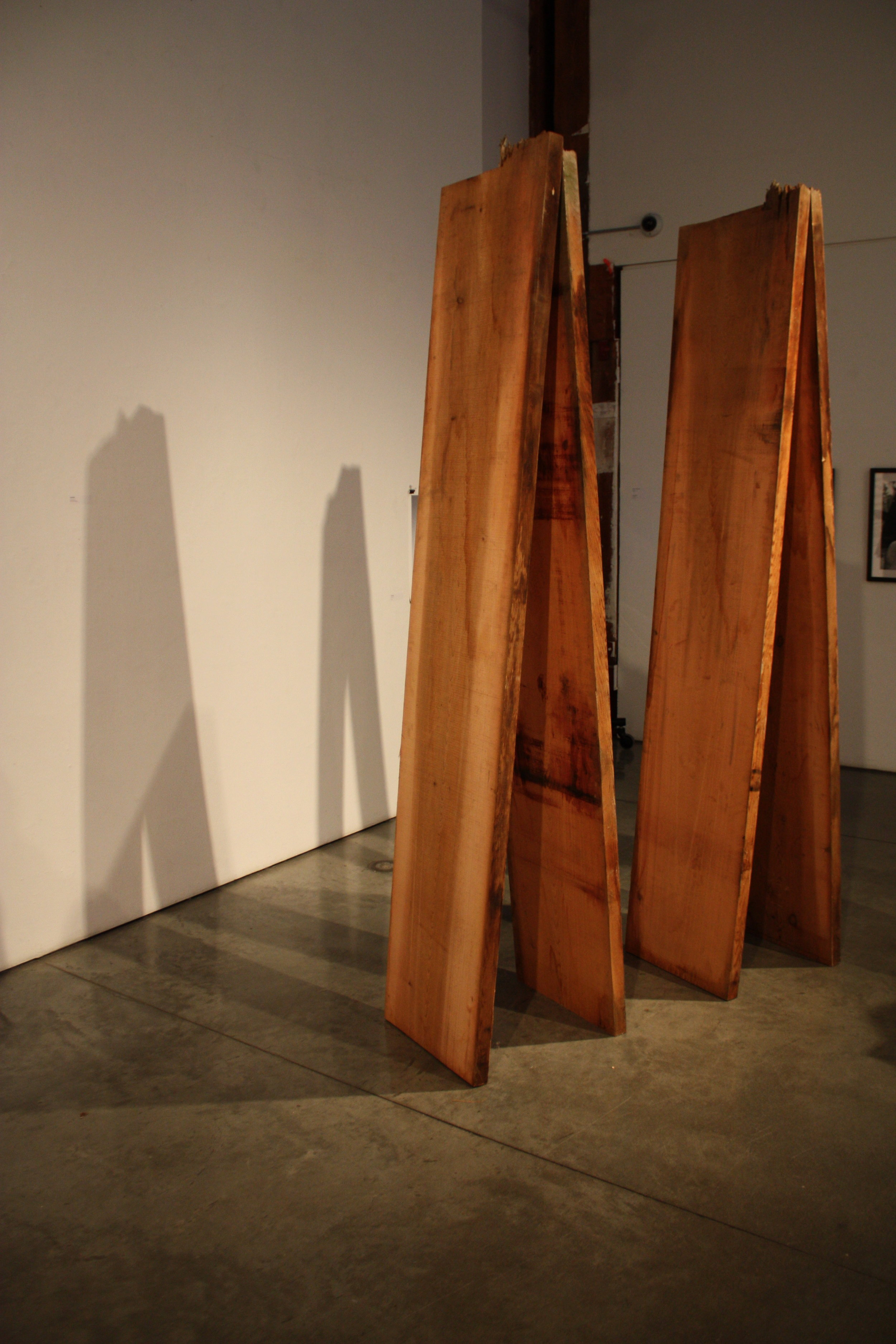 Old growth cedar planks - Red cedar, copper nails - (2013)