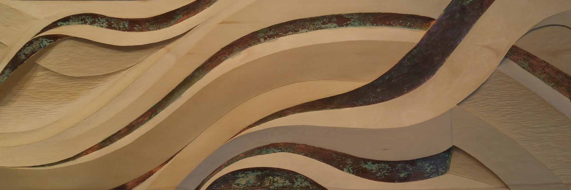 Flow - Yellow cedar, copper lead - (2014)
