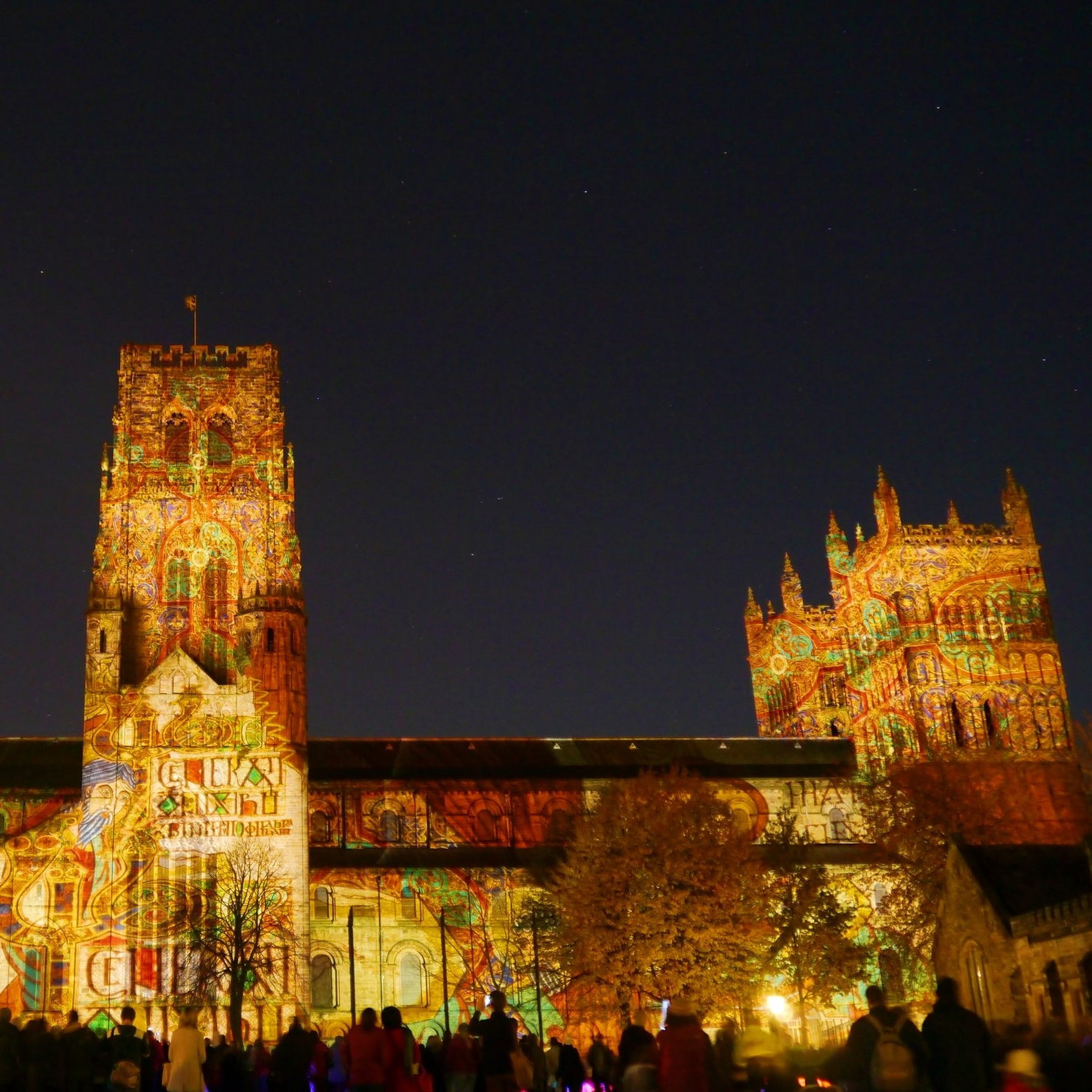 Durham Cathedral in the 2013 Lumiere festival.
