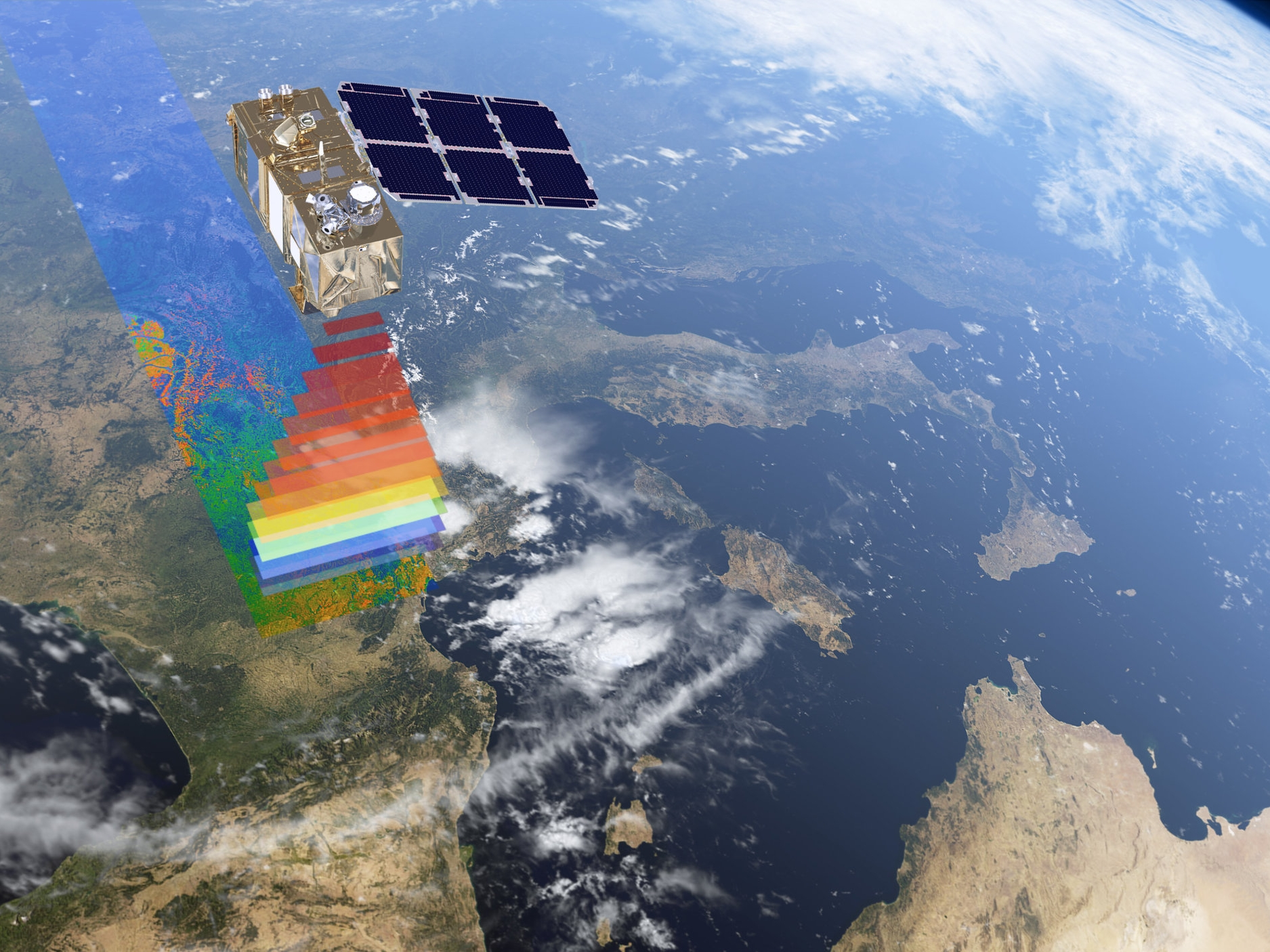 Mapping groundwater from space using microwave reflectivity must be calibrated by ground-truthing on Earth.