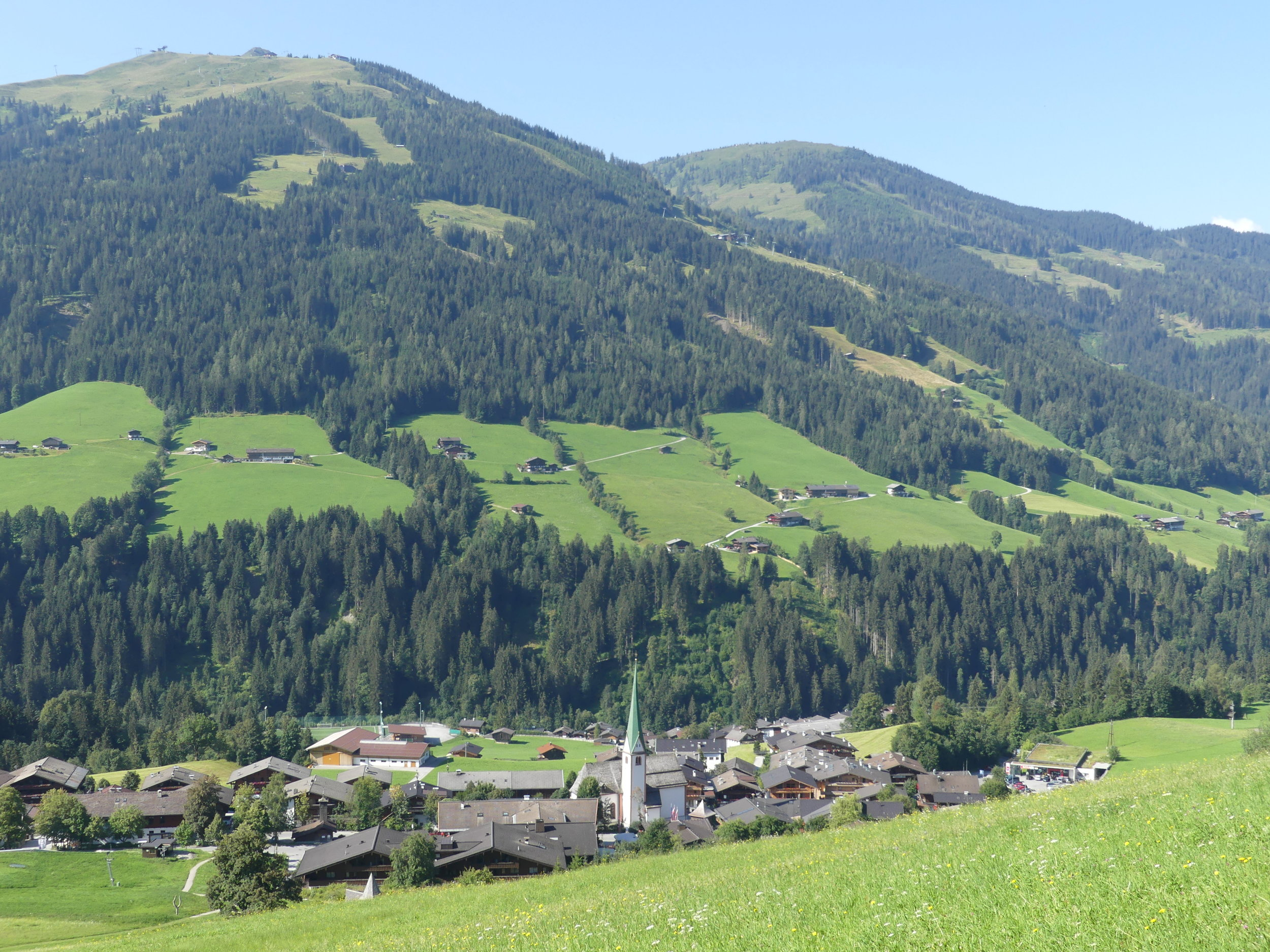 The village of Alpbach from above.