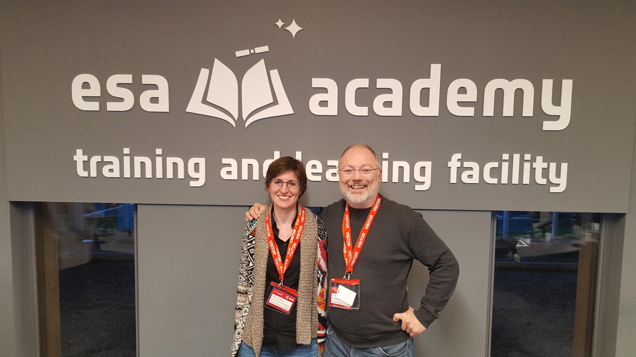 Our valiant tutors, Cecilia Tubiana and Günter Kargl.