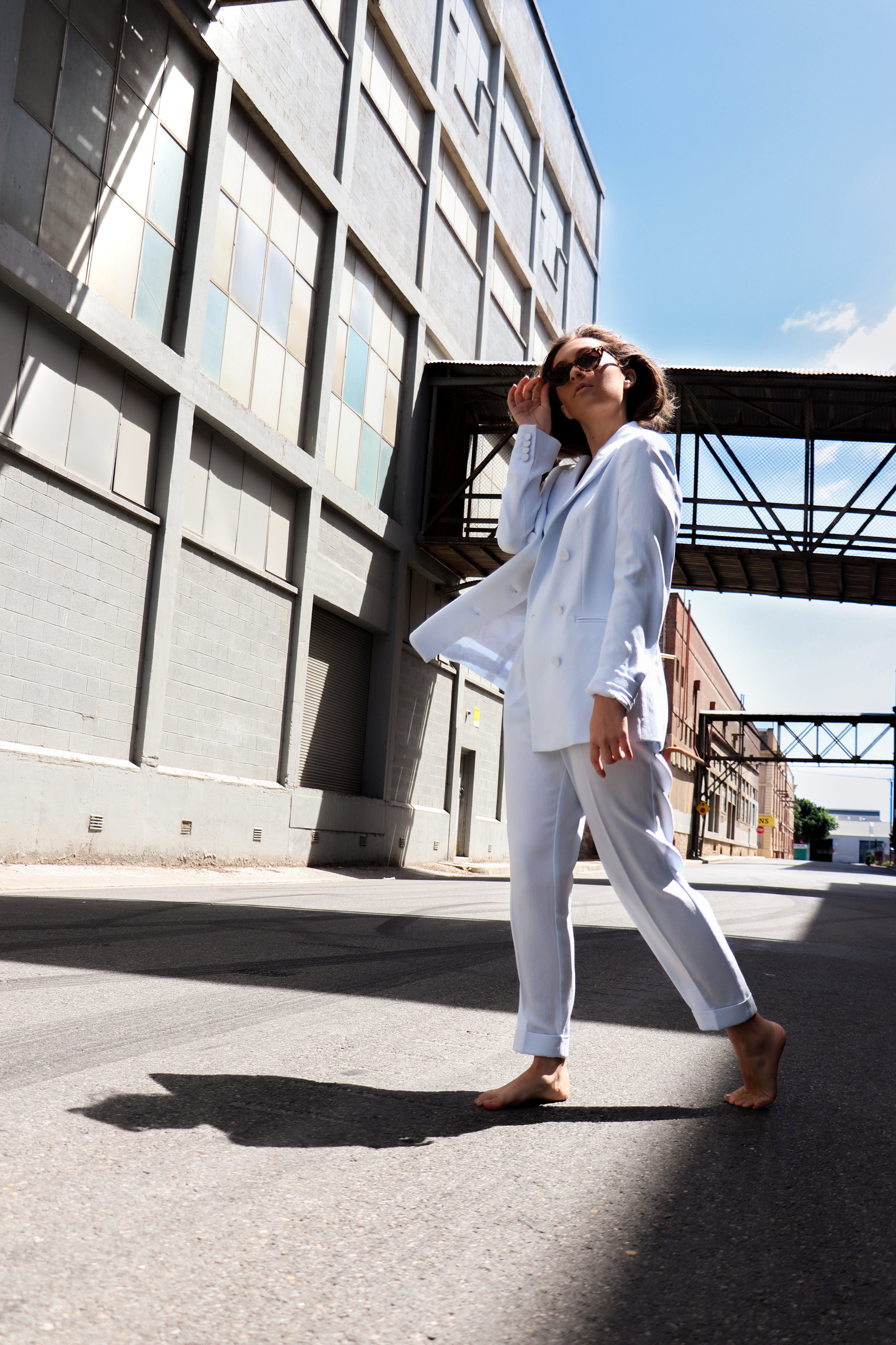 Witchery  Relaxed Blazer  $279.95 and  Pleat Front Pant  $149.95 Model: Yasmin Cinelli Photography: Katelin Rice (ESPY)