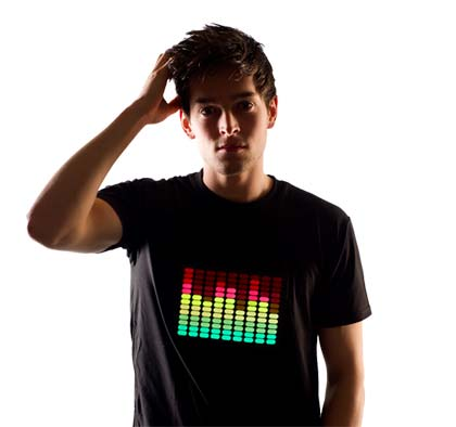 L.e.d t-shirts - P.S.This guy definitely picked up at the school disco...