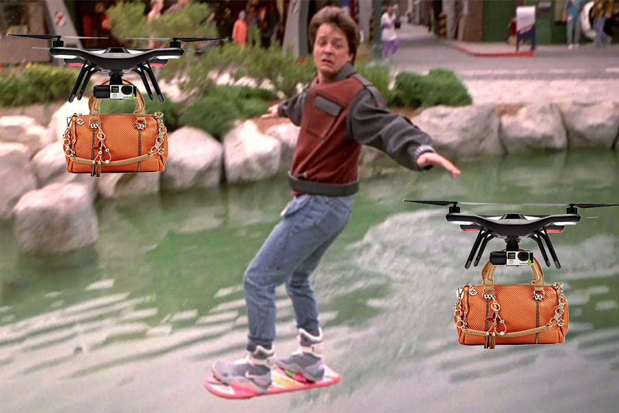 If only they had hoverboards to carry the models as well....
