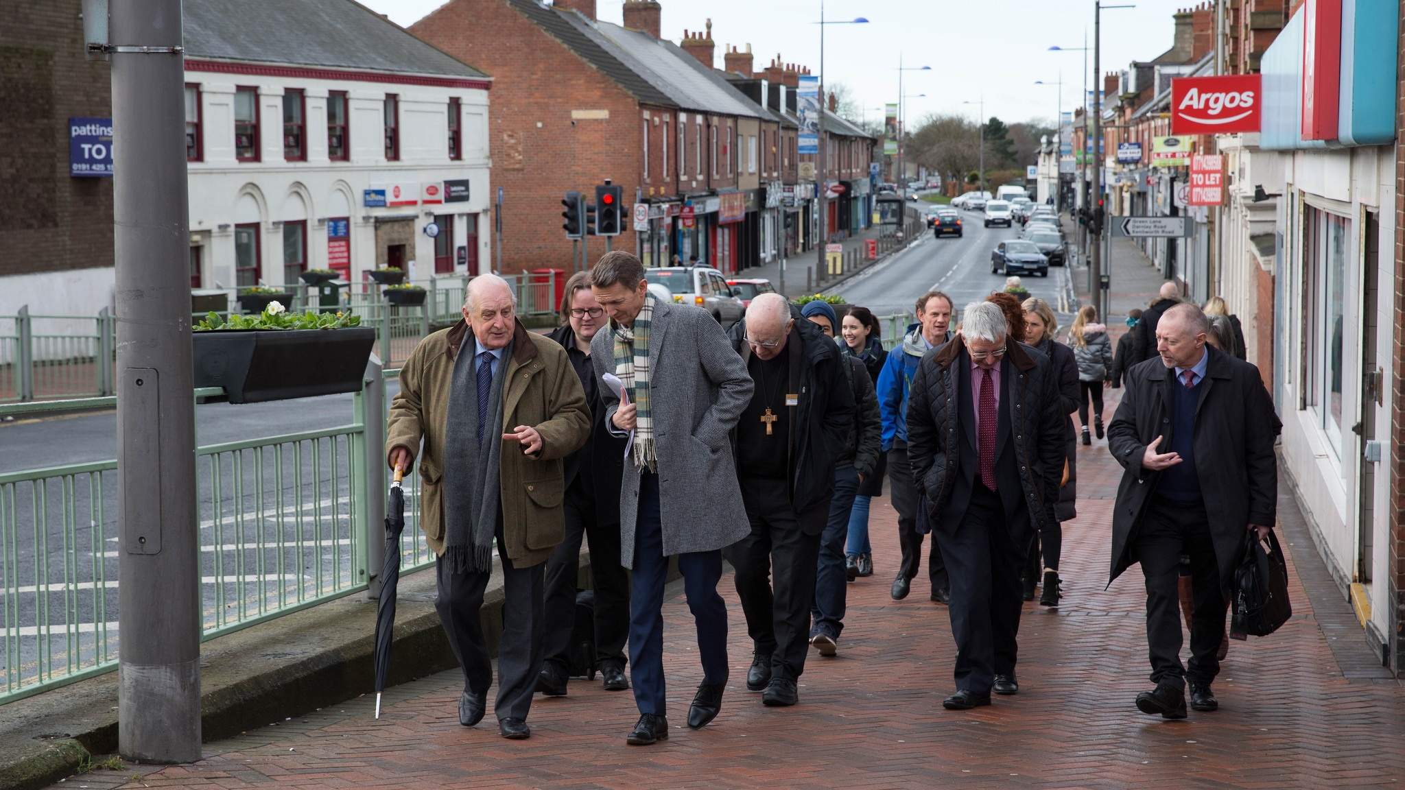 The Bank of England's Chief Economist, Andy Haldane, visits communities in Ashington accompanied by the Just Finance Foundation, local community and Church of England representatives