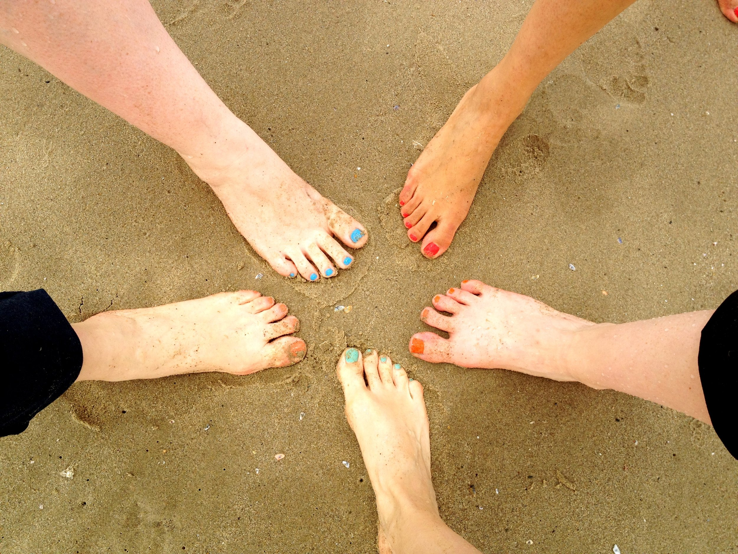 Yes, we did a girlfriend feet picture on the beach. You would have too!
