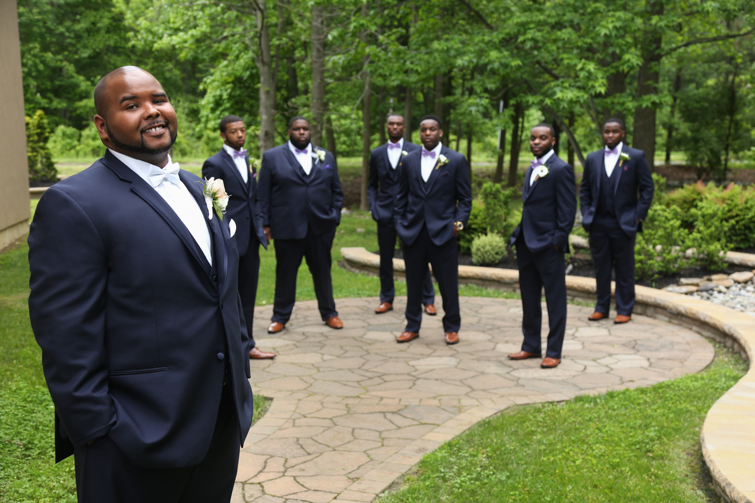 Wedding-groom-blue-tuxedo--african-american-Brigalias-Wedding-Photography-Groom -sicklerville