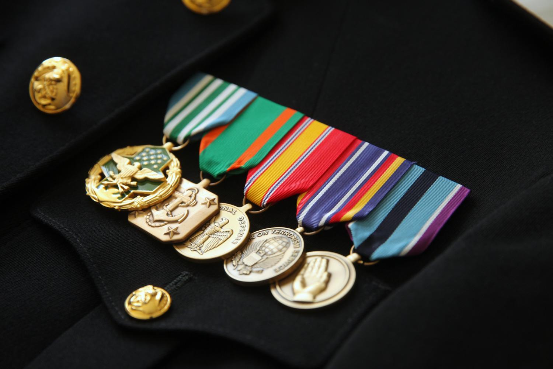 Marine Medals Wedding Details Photography