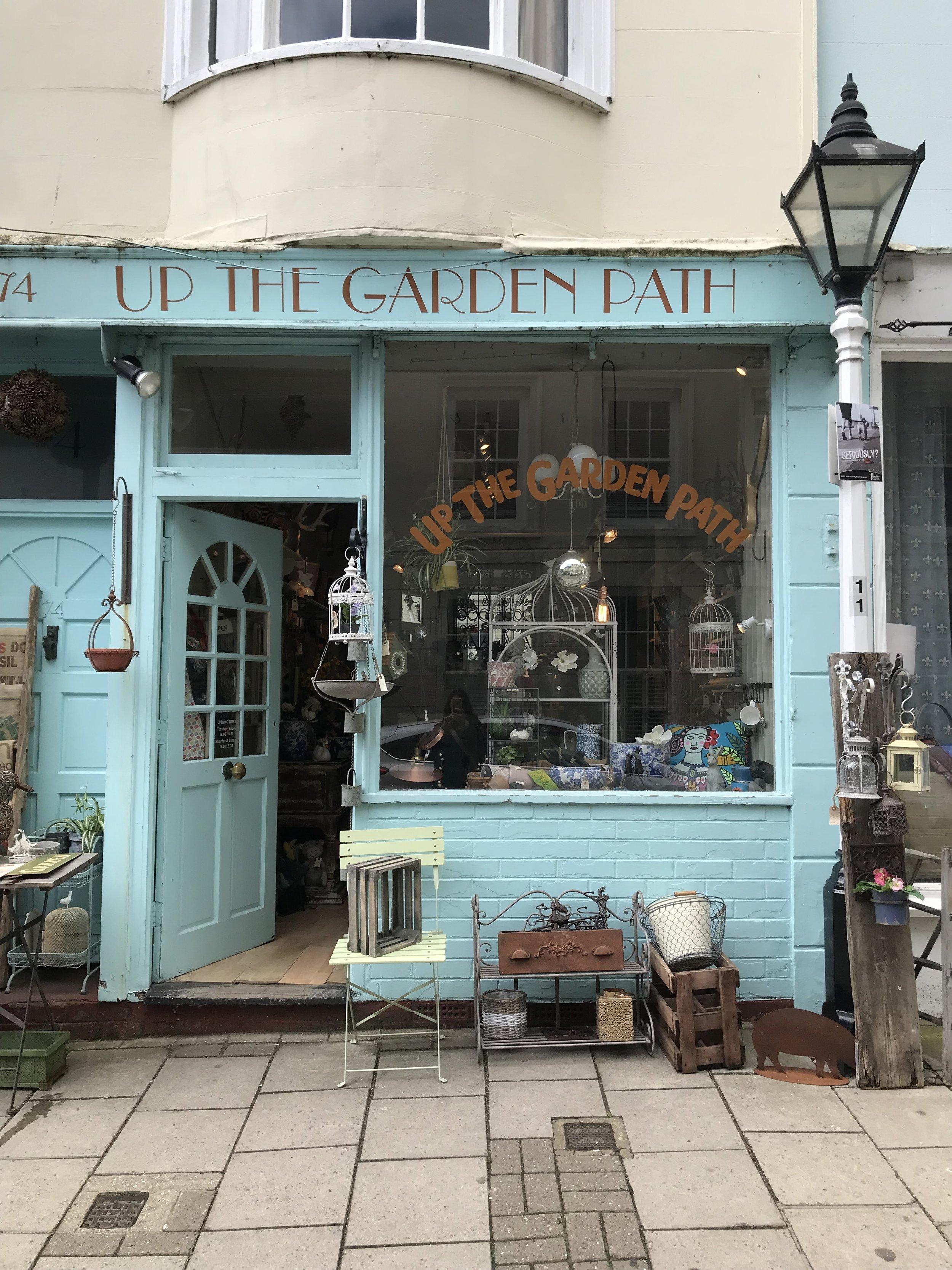 A beautiful little garden shop