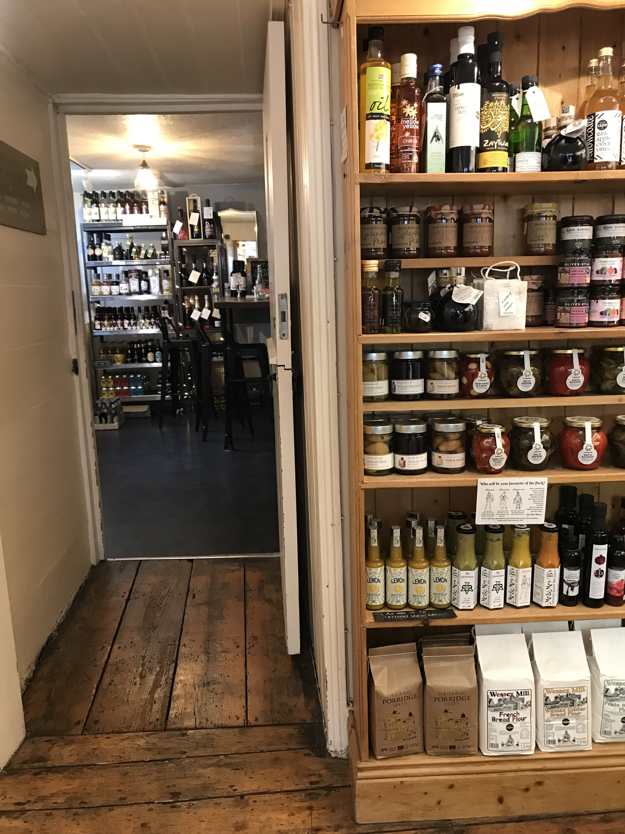 A tea room and delicatessen selling local produce