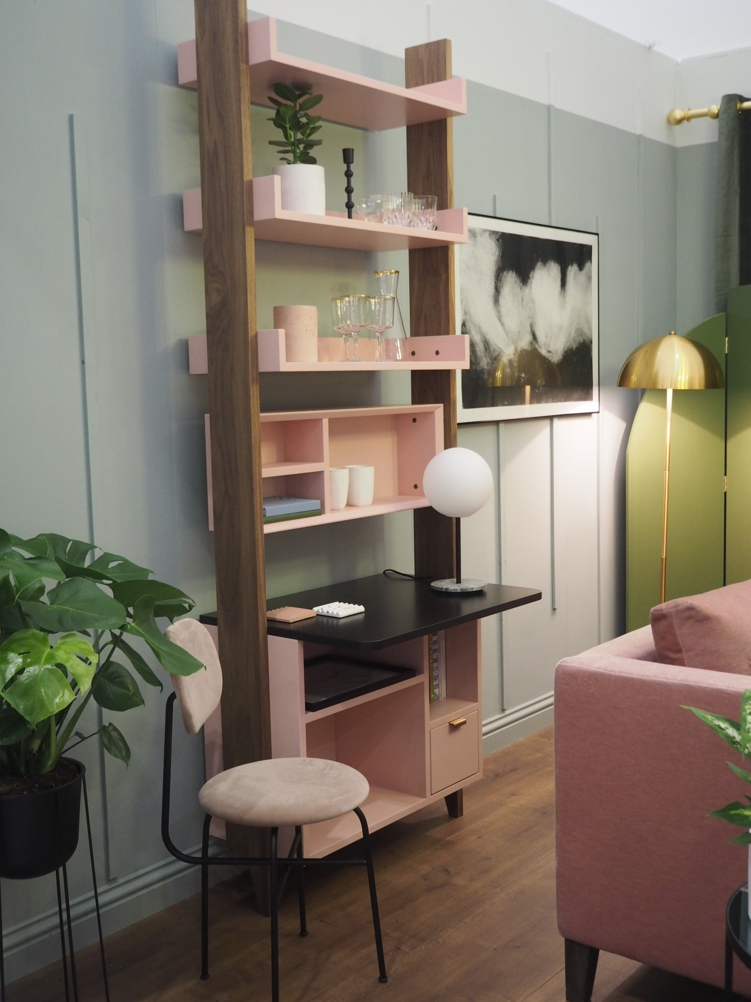 The beautifully styled work space
