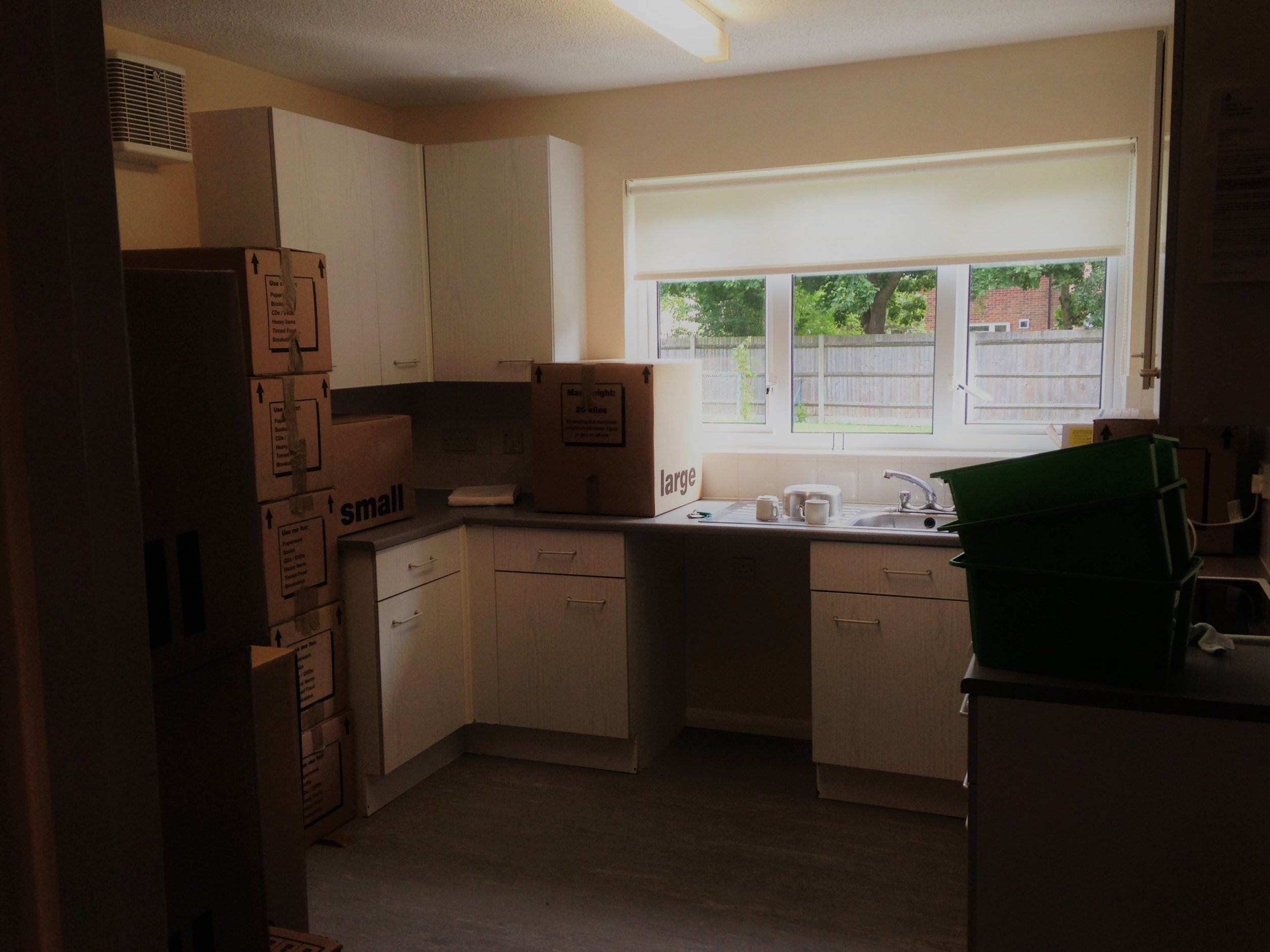 Another dark and characterless Army accommodation kitchen - also before I knew how to take photos!