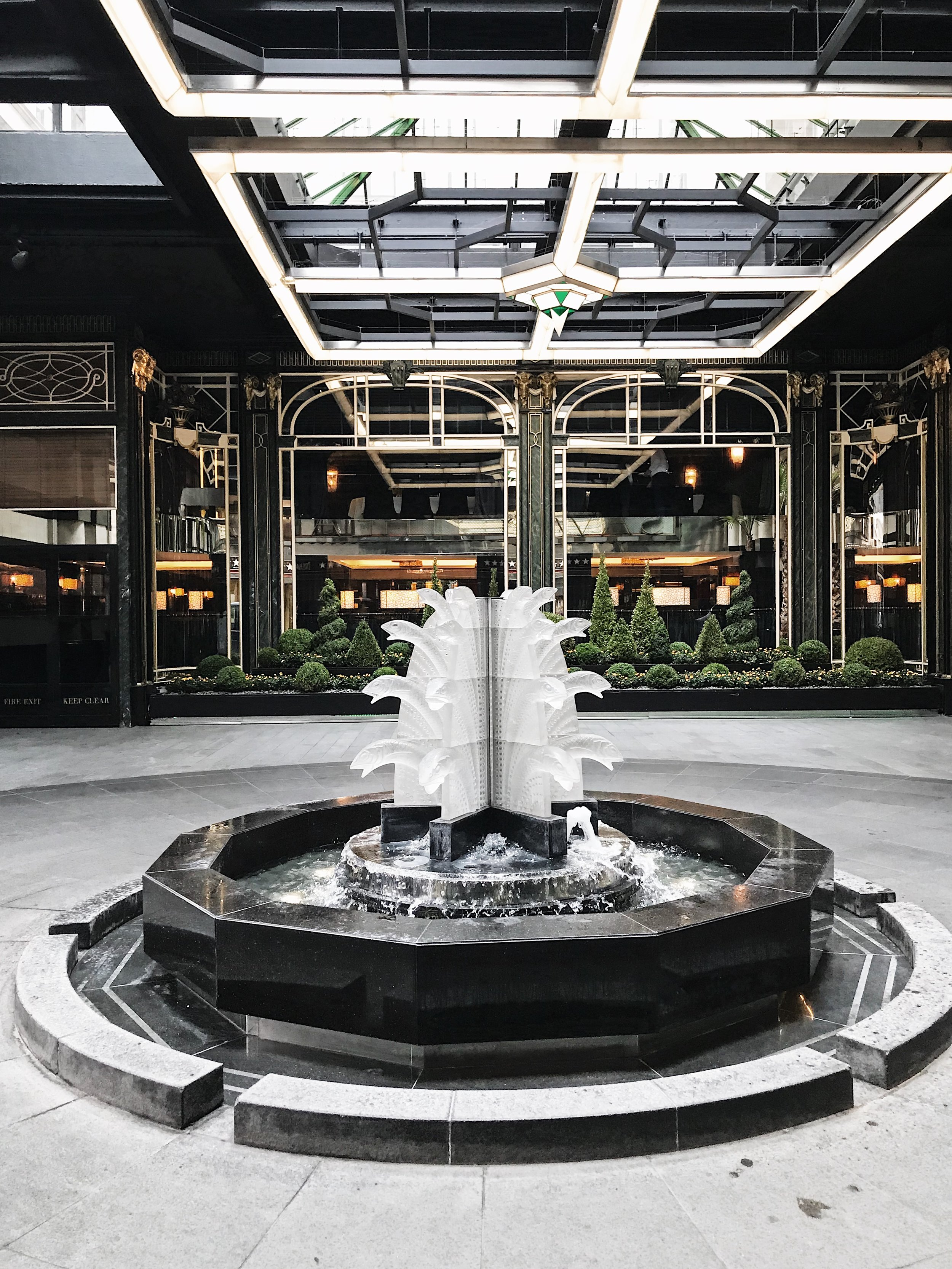 The fountain at the entrance of The Savoy