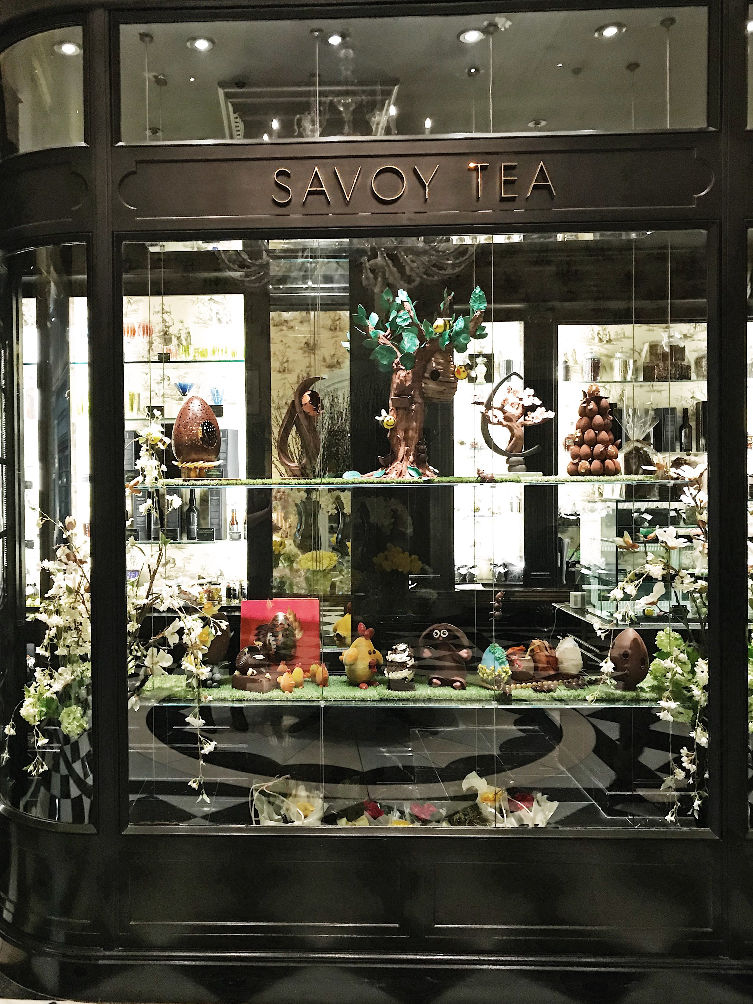 The Savoy Tea Shop with its Easter Egg display