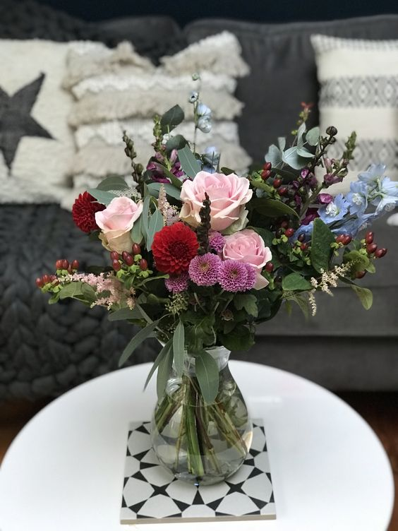 Brighten up your kitchen with an Early Autumn Bouquet from www.89petals.co.uk