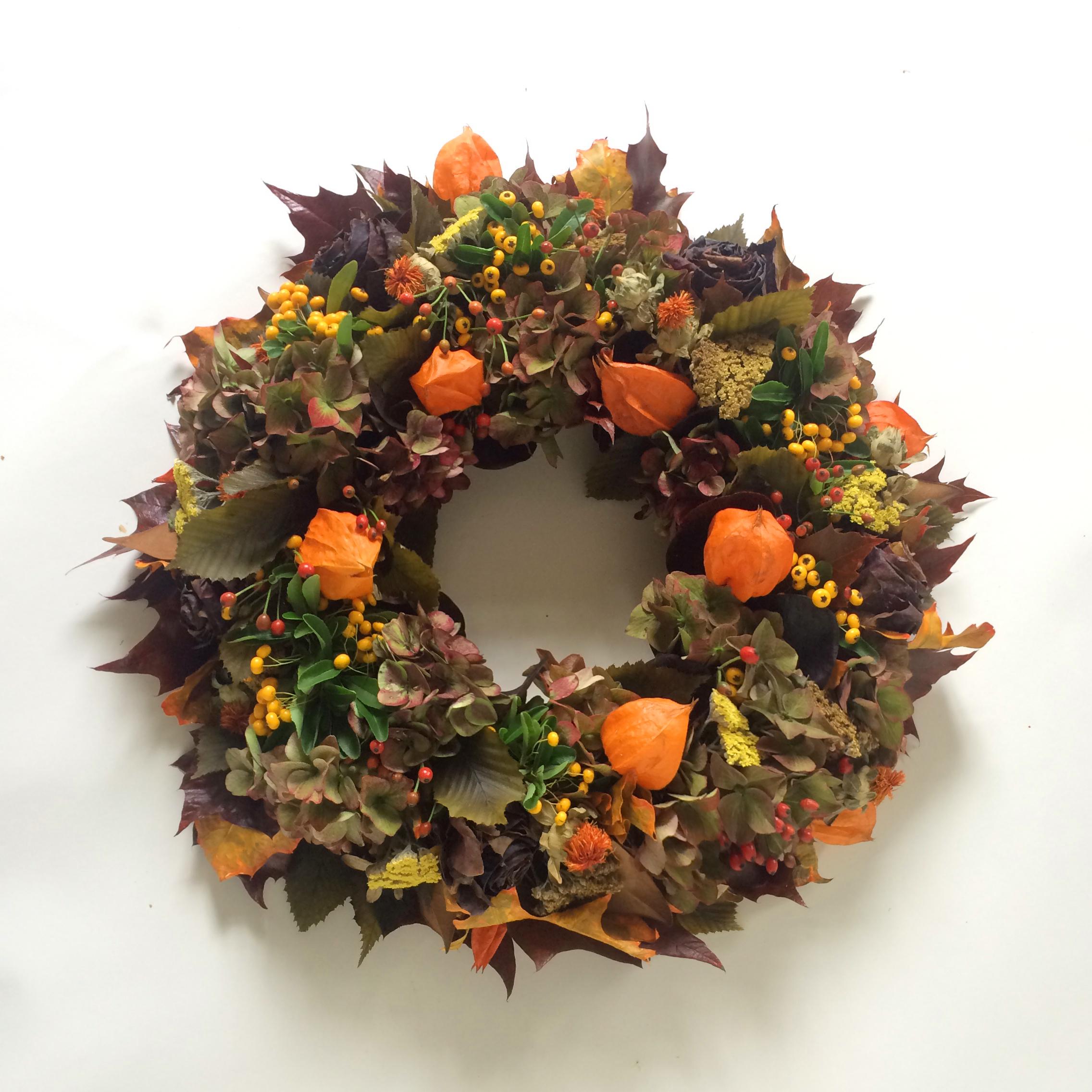 Autumn Wreath Bright - www.roseandmary.co.uk