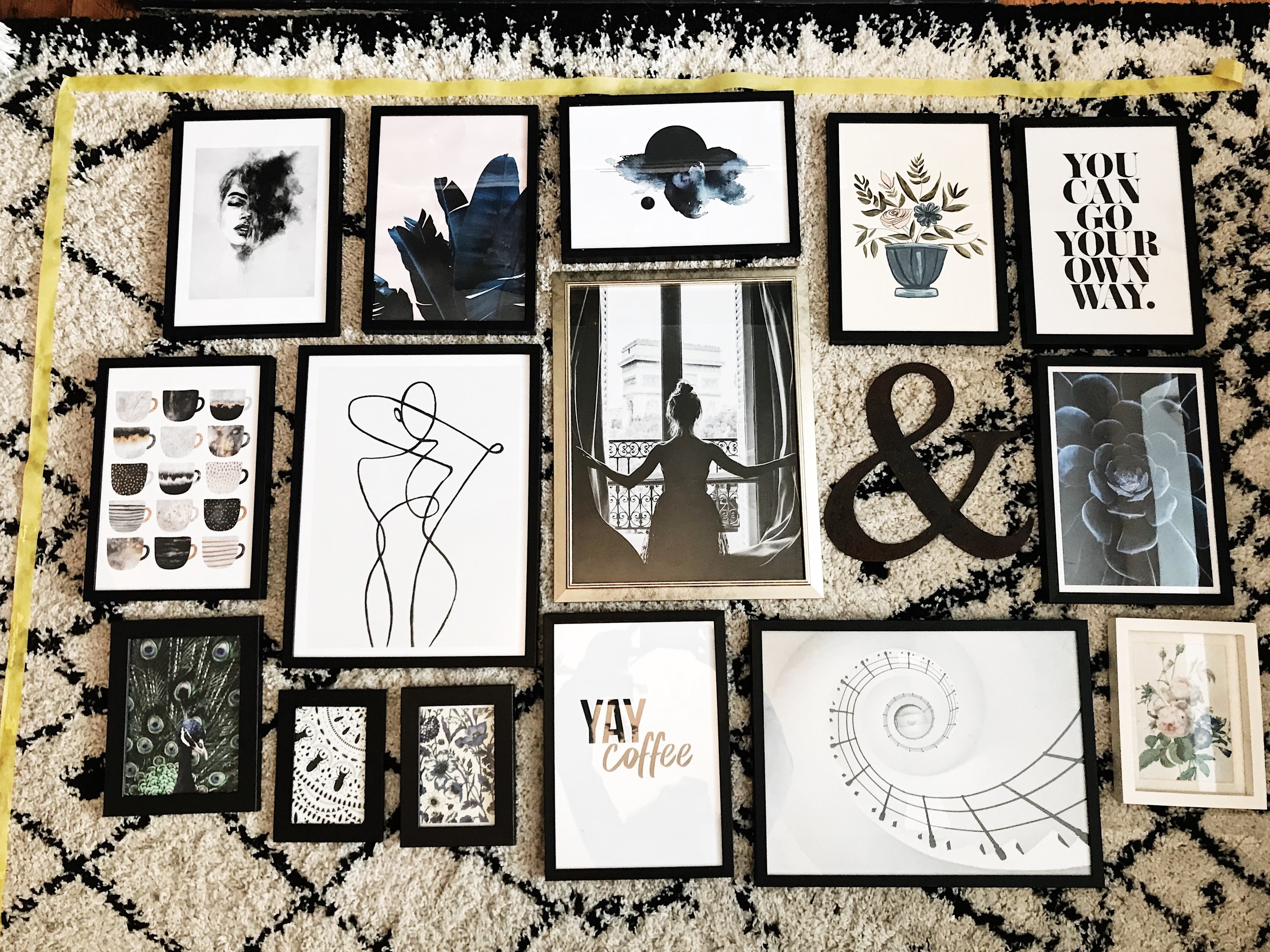 A Scandi inspired gallery wall.