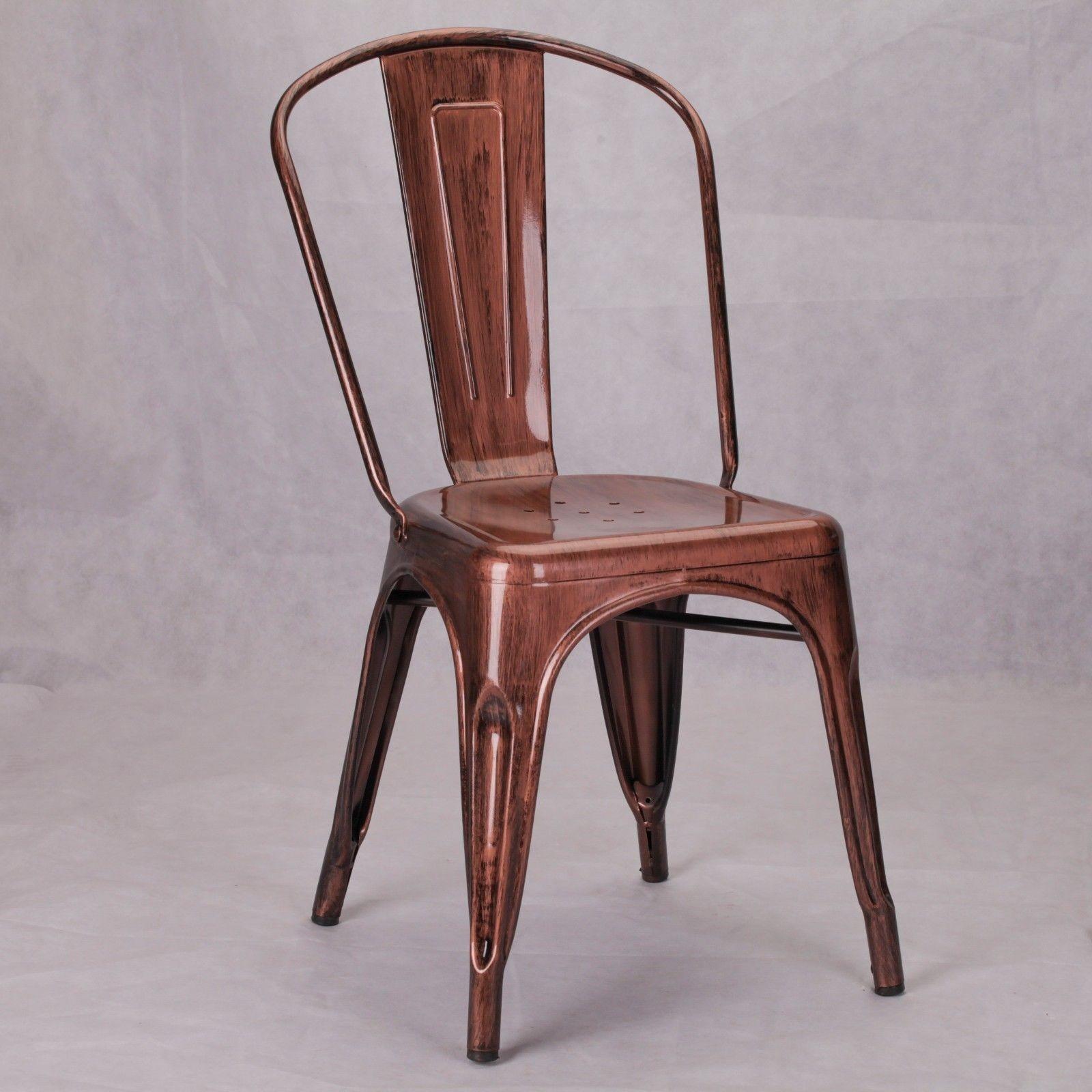Metal Copper Chair -  www.la-maison-chic.co.uk