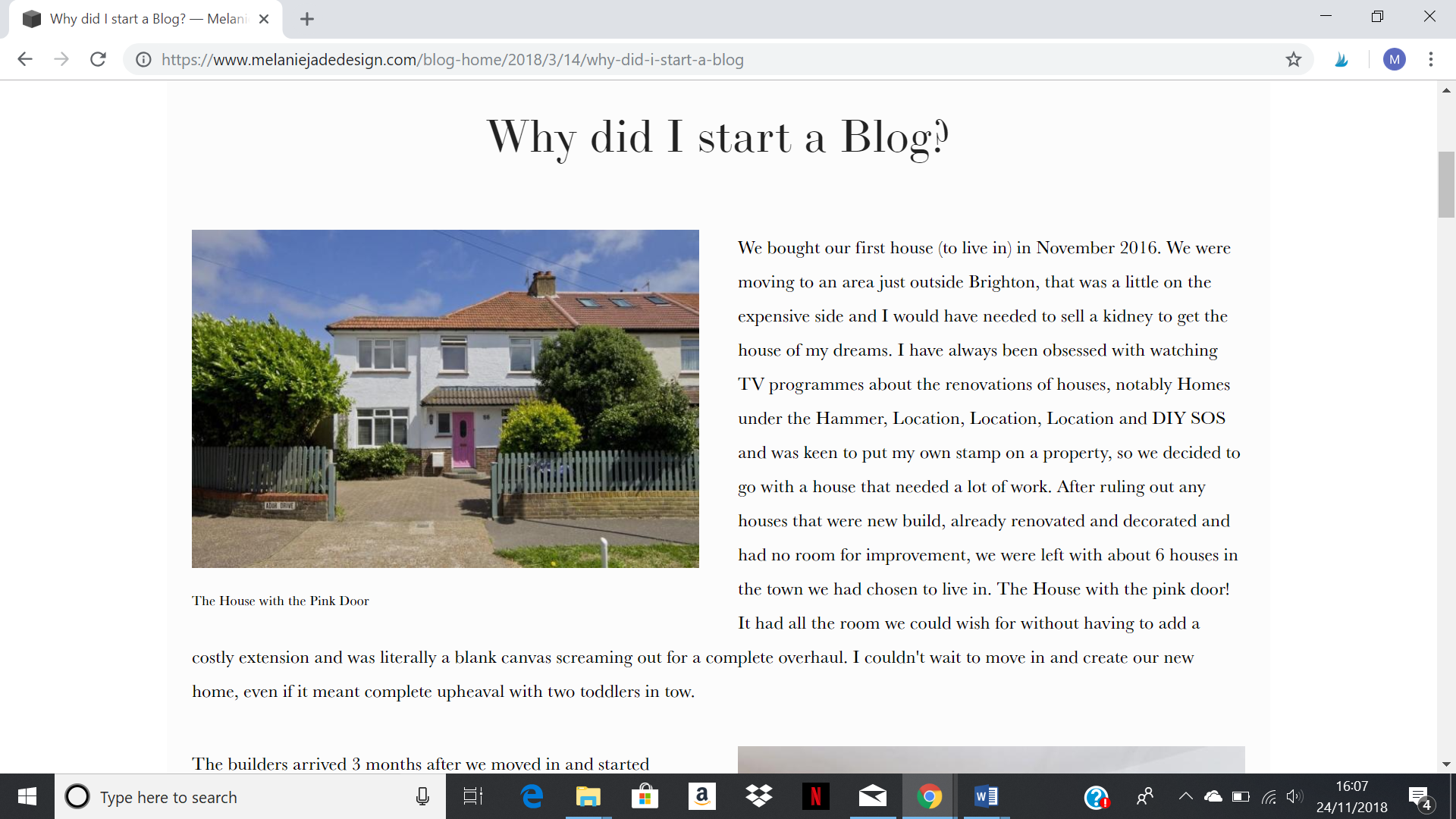 My very first blog post, I think about 10 people read it!