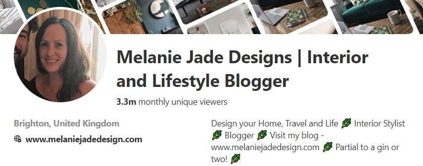 My website is prominent on my Profile page and you can click on it which takes you straight to my Blog