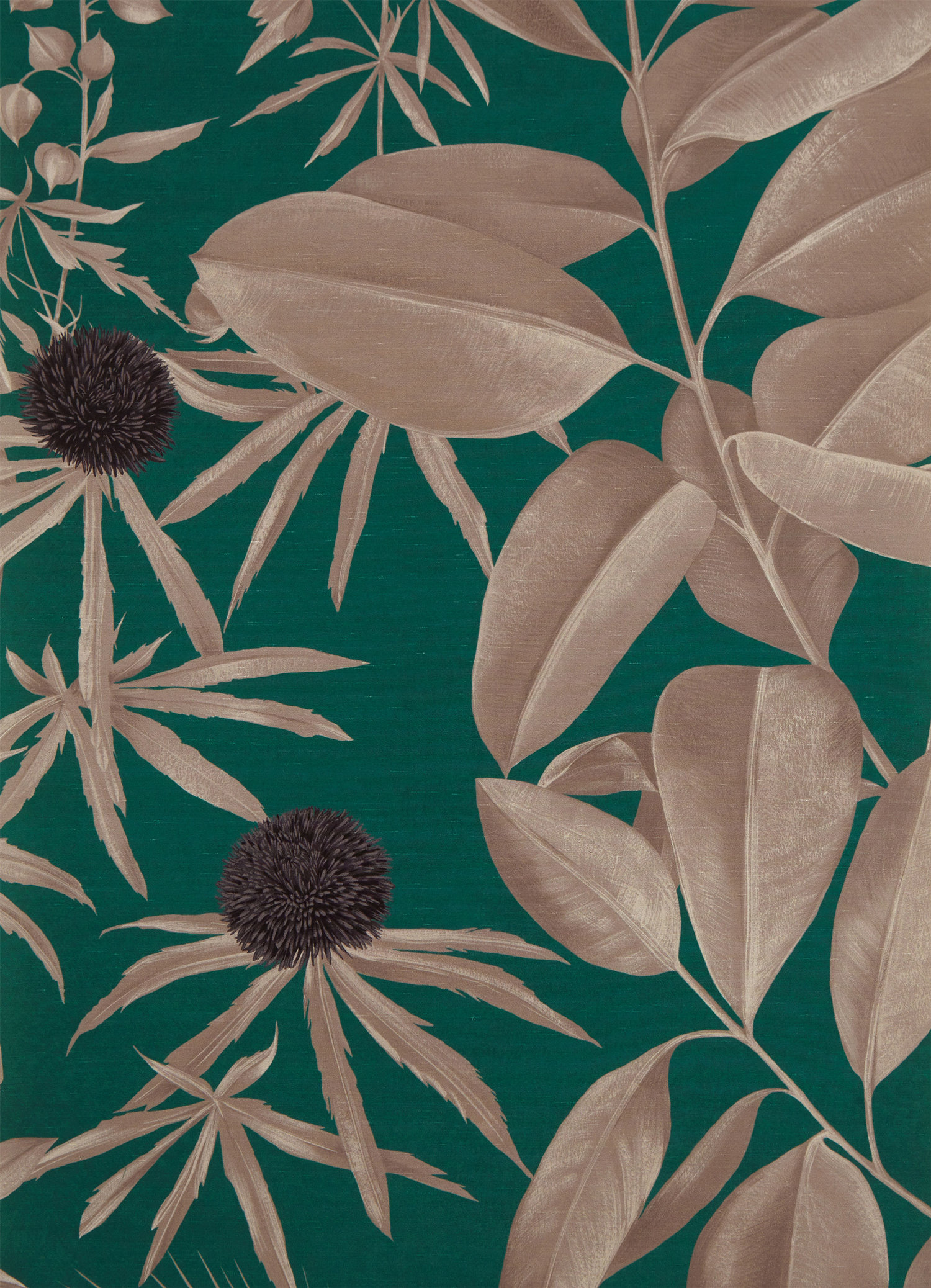 Green & Gold Wallpaper