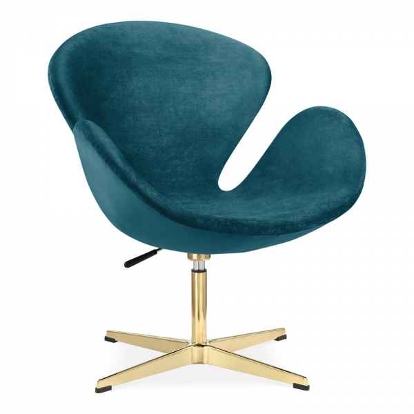 Cult Living Swan Chair - Teal and Gold