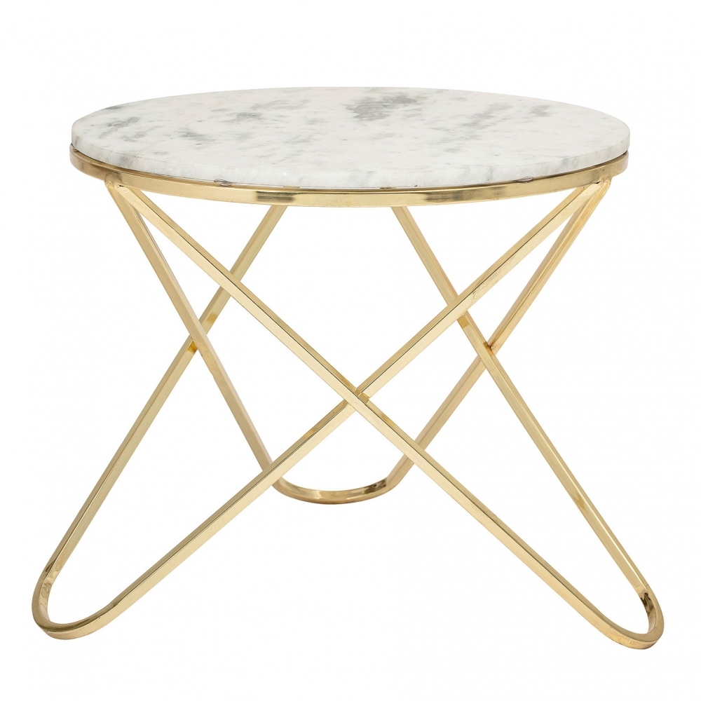 Hurn & Hurn Marble and Gold coffee table