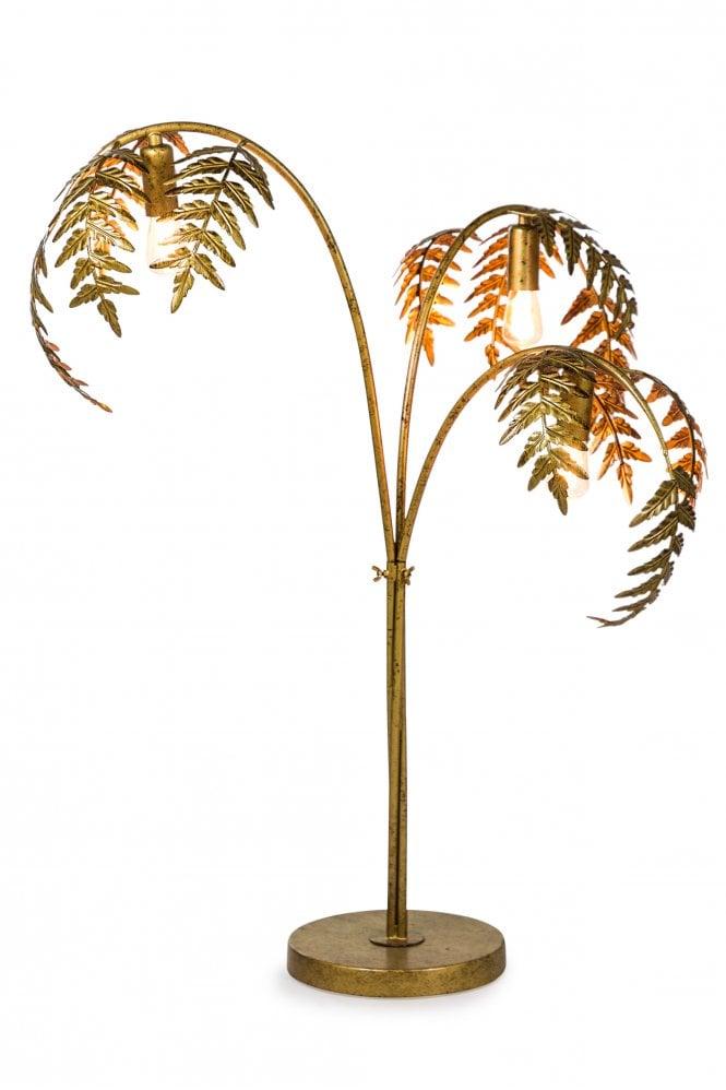 Oliver and Sage Gold Leaf floor lamp