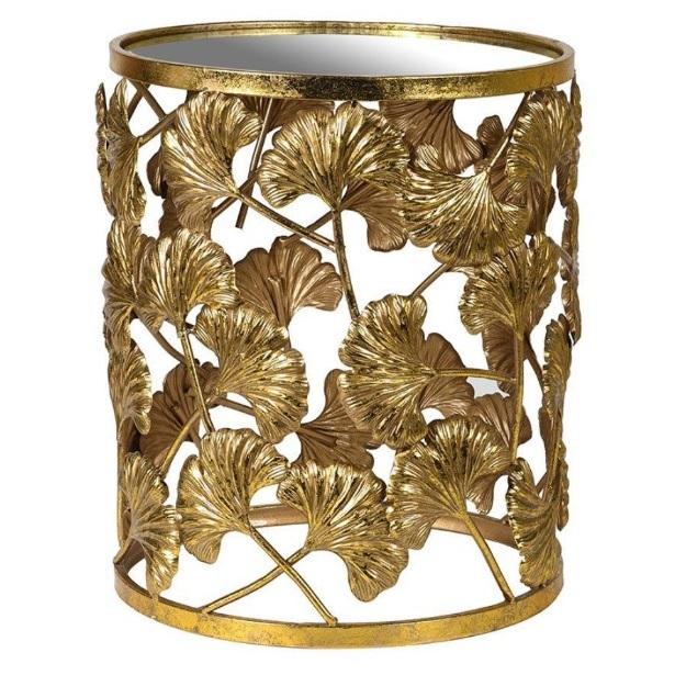 Audenza Gold Gingko Leaf Side Table