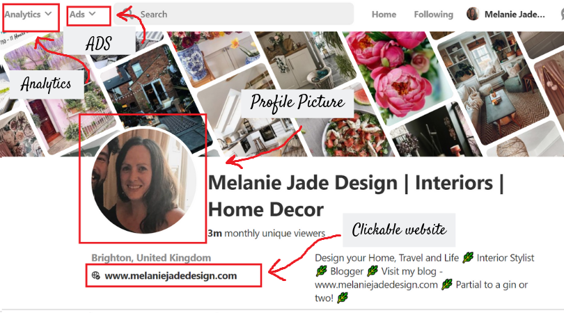 My Pinterest Profile page -  www.pinterest.co.uk/melaniejadedesign