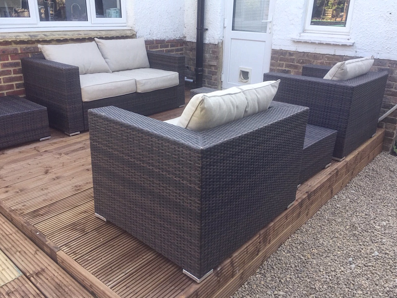 Our Borneo rattan furniture from  Asda