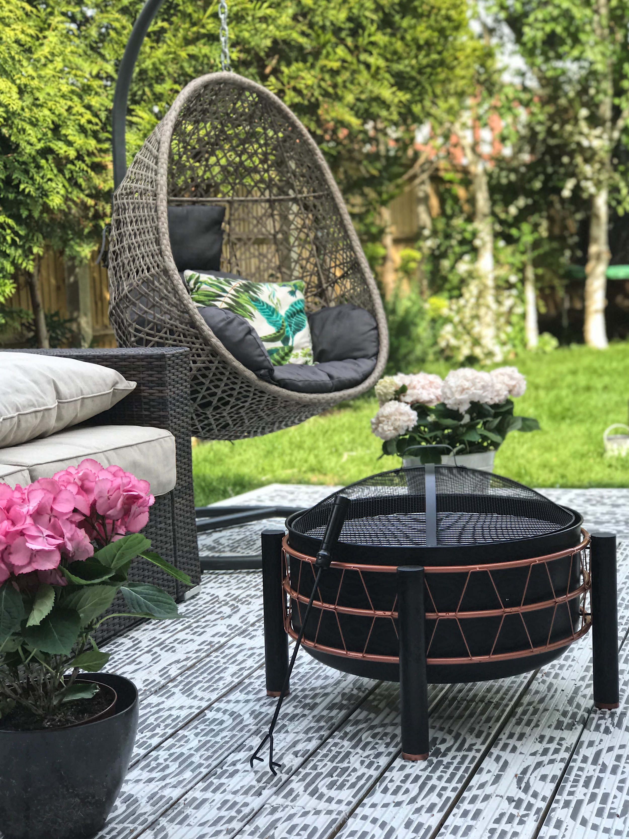 Our new  Copper Fire Pit  from VonHaus