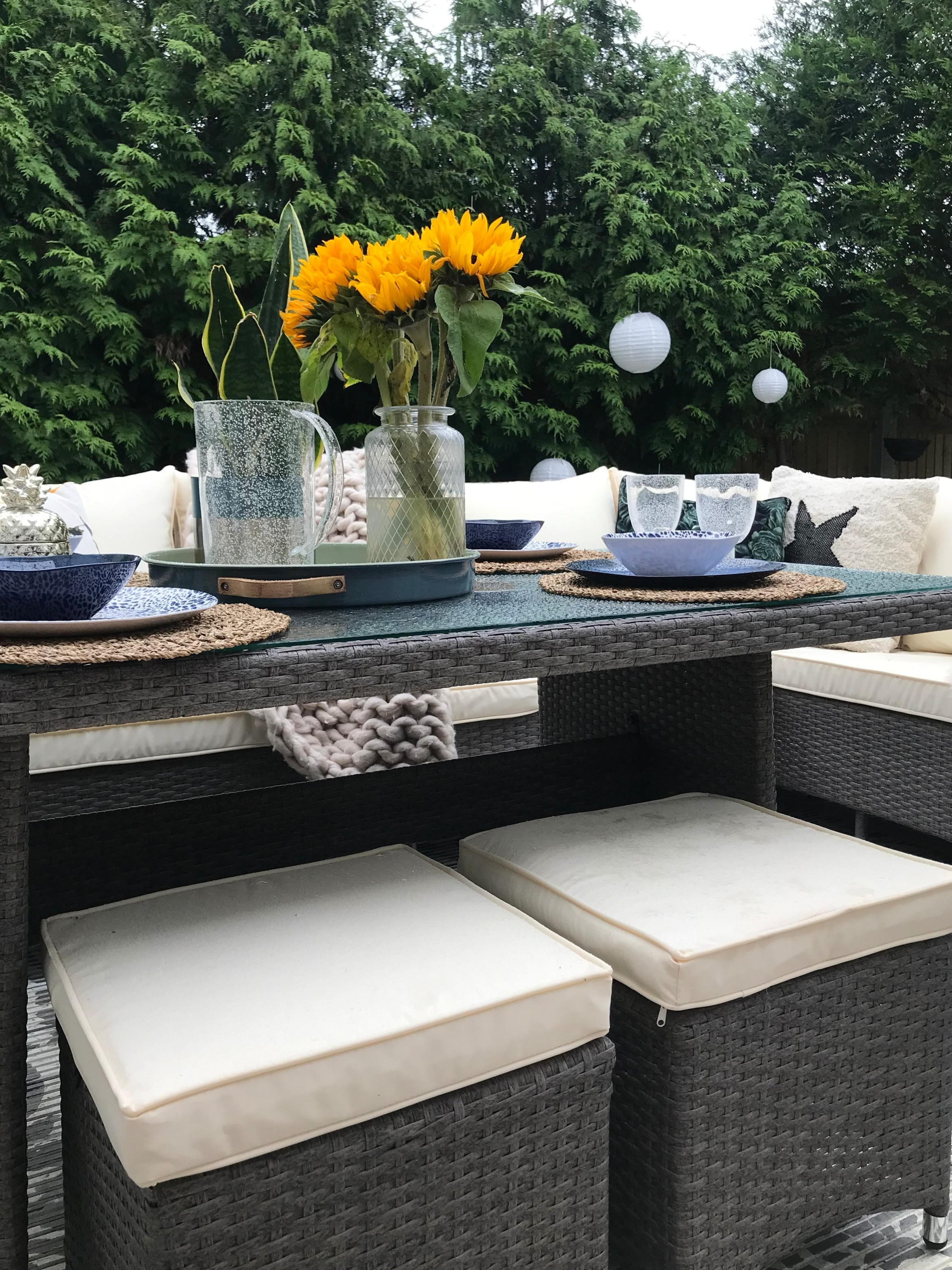 The stools give you extra room around the table and can be neatly tucked away when not needed