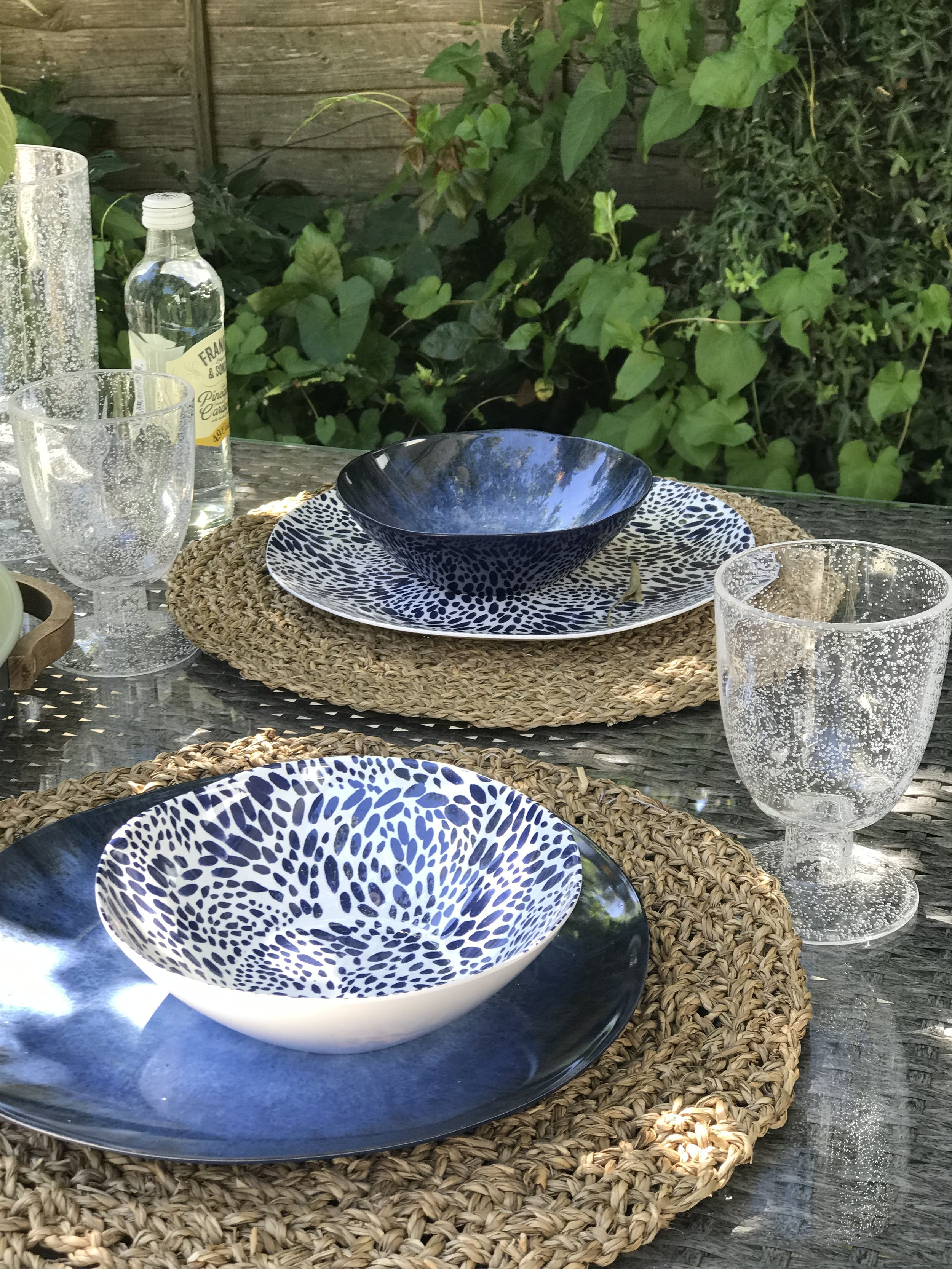 Coastline melamine bowls