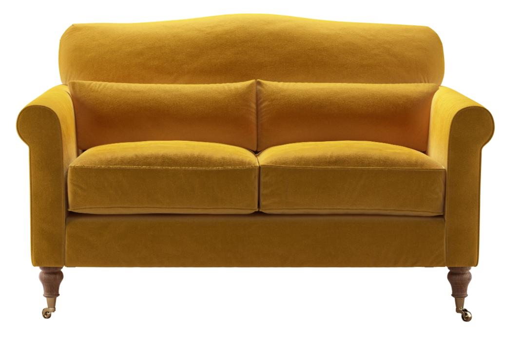 The stunningly vibrant  Butterscotch Dahlia  sofa