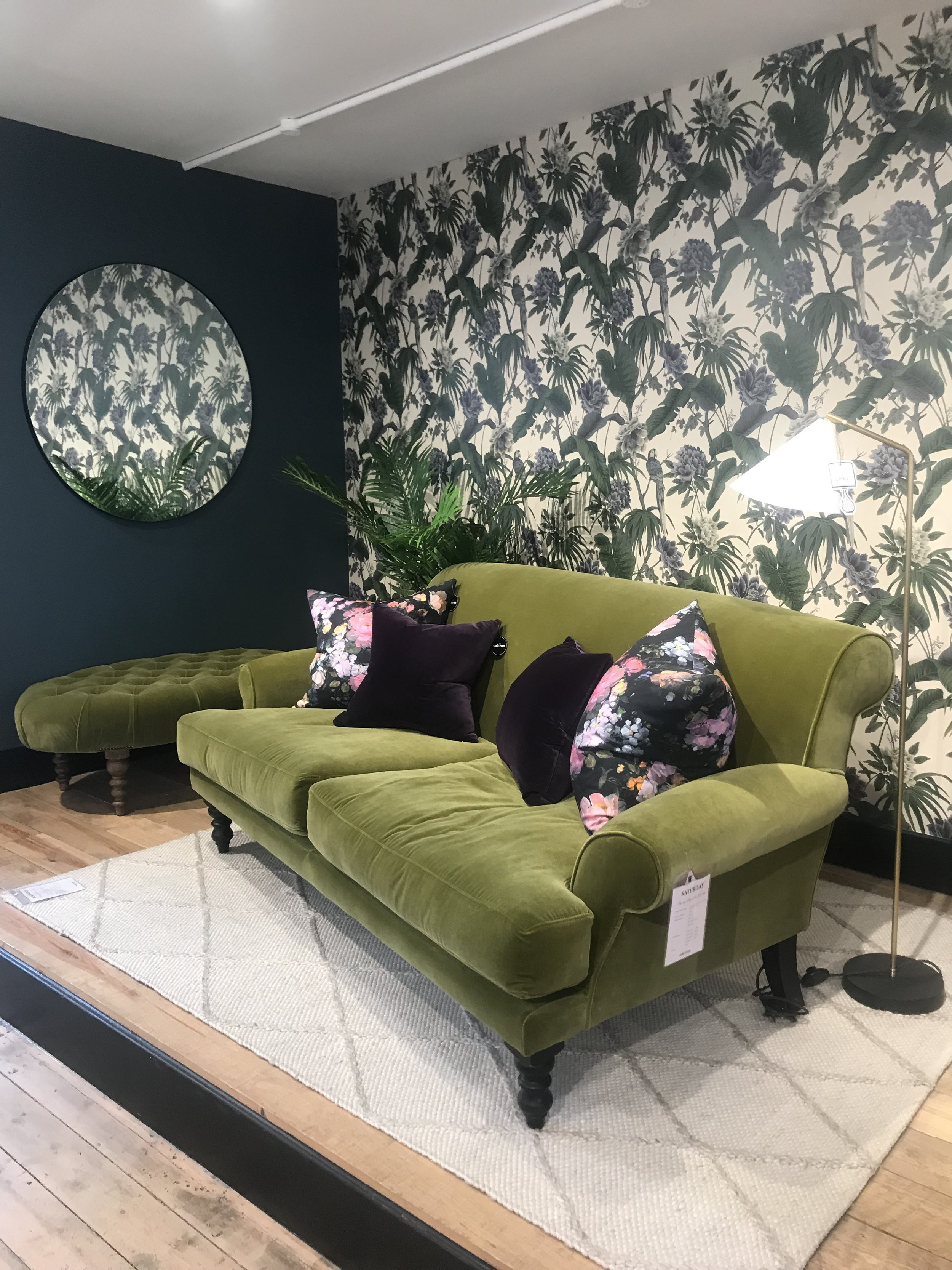 Adored this  Saturday Sofa in Olive